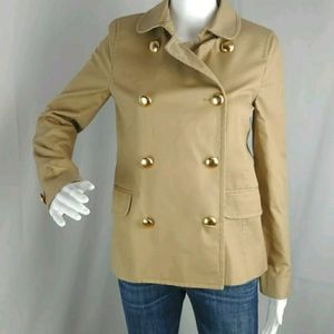 J Crew Cropped Trench Coat Military Button…